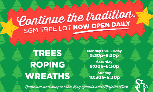 Support the SGM Tree Lot / Volunteers Needed